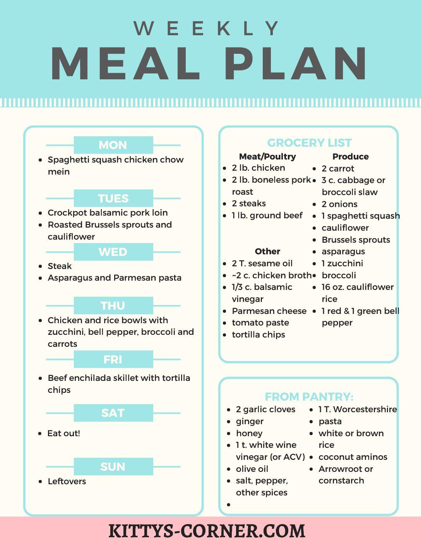 Dinner This Week: Meal Ideas #3